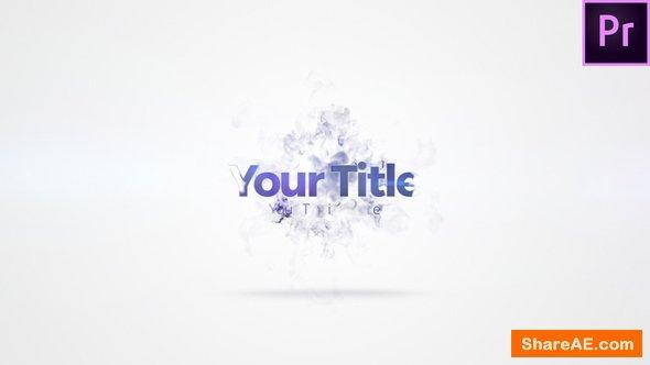 Videohive Quick Smoke Burst Title - Premiere Pro