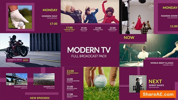 Videohive Modern TV - Fashion Broadcast Pack