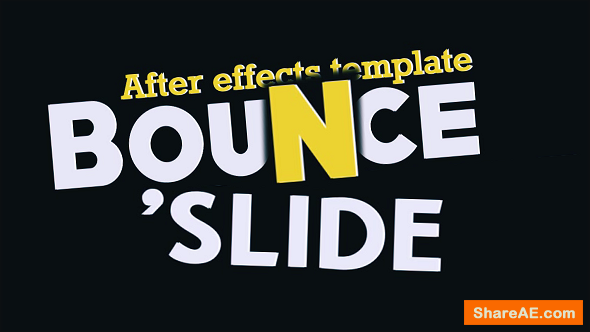Videohive Fresh Animated Titles - Bounce n' Slide