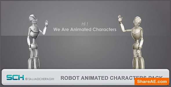 Videohive Robot Animated Characters Pack
