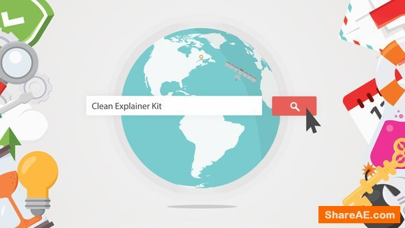 Videohive Clean Explainer Kit