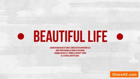 Videohive Beautiful Life