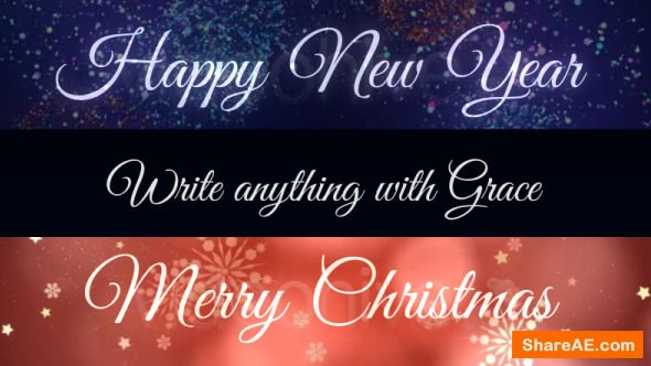 Videohive Grace - Animated Handwriting Typeface