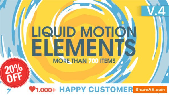 Videohive Liquid Motion Elements