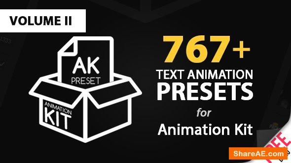 Videohive Text Preset Volume II for Animation Kit