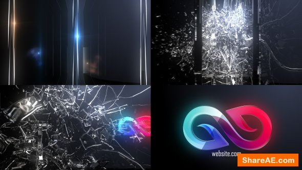 Videohive Abstract Glass Shatter Logo Opener