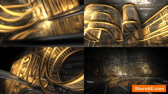 Videohive Dark Rejected Element 3D Logo Opener