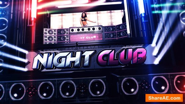 Night club promo after effects free