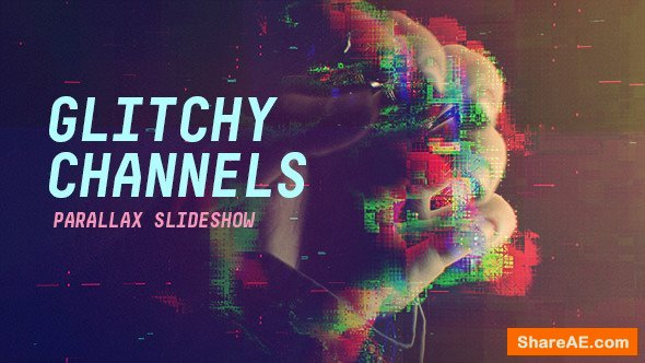 Videohive Glitchy Channels Parallax Slideshow