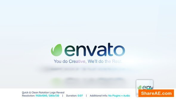 Videohive Quick & Clean Rotation Logo Reveal