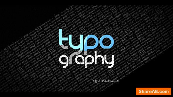 Videohive Typography Reveal