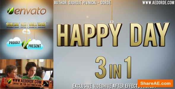 Videohive Happy Day - 3in1