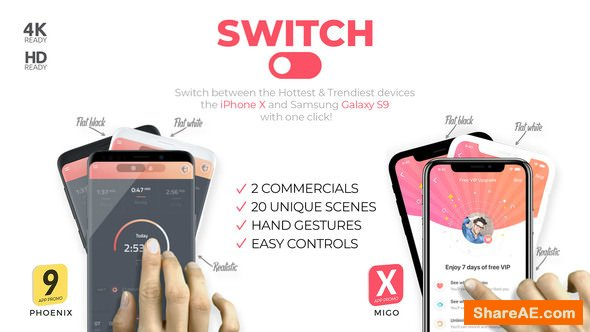 Videohive Switch: phoneX & s9 App Promo