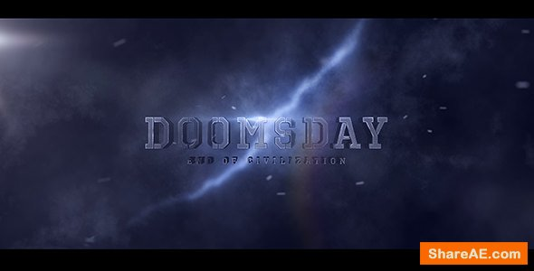Videohive Doomsday Title design