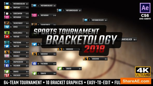 Videohive Bracketology - Sports Tournament Bracket