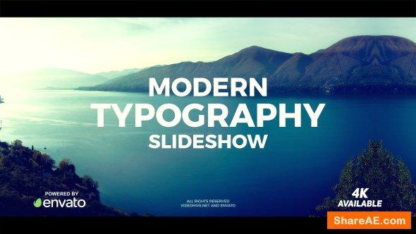 Videohive Modern Typography Slideshow