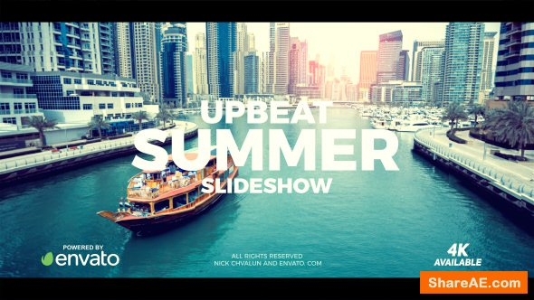 Videohive Upbeat Summer Slideshow