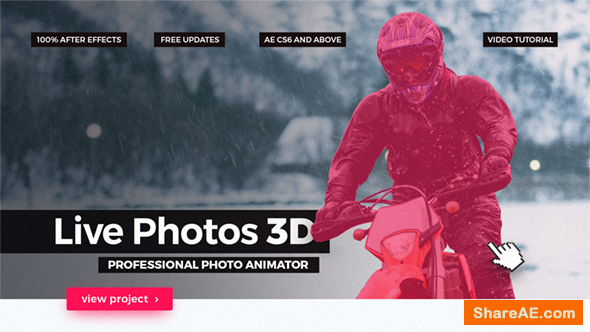 Videohive Live Photos 3D - Professional Photo Animator
