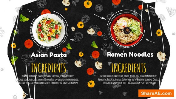 Videohive Recipes Menu Slideshow