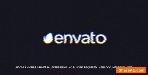 Videohive Scratch Glitch Logo