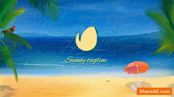 Videohive Sunny Beach Logo Opener
