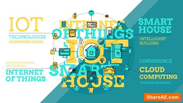 Videohive Internet Of Things And Smart Home Infographics 20315704