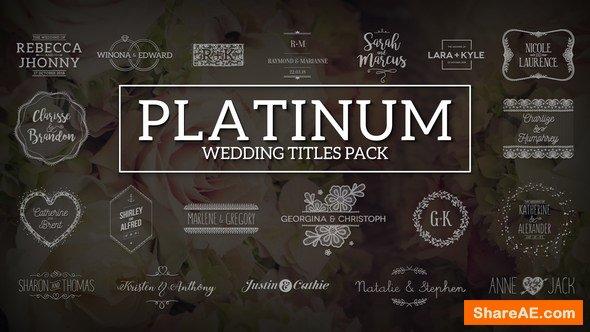 Videohive Platinum | Wedding Titles Pack