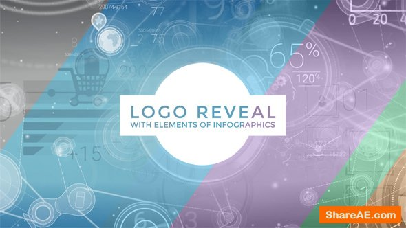 Videohive Logo Reveal With Elements Of Infographics