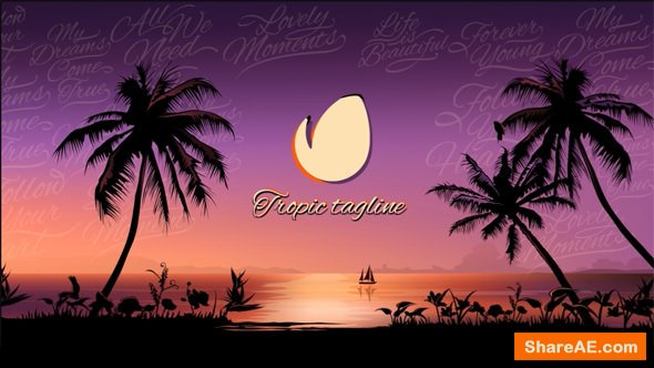 Videohive Tropical Sunset Opener