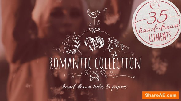 Videohive Romantic Collection Hand-drawn Titles