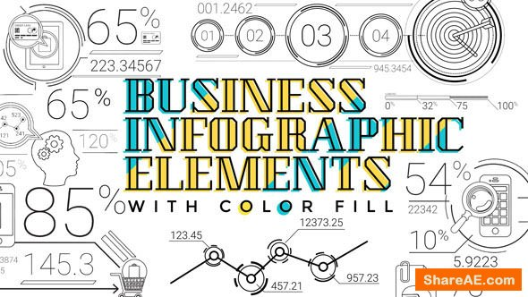 Videohive 30 Line Infographic Elements