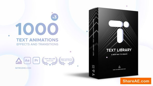Videohive Text Library - Handy Text Animations v3