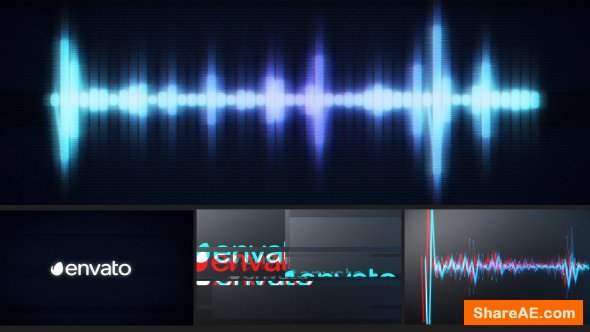 Videohive Glitch Logo Music Visualizer