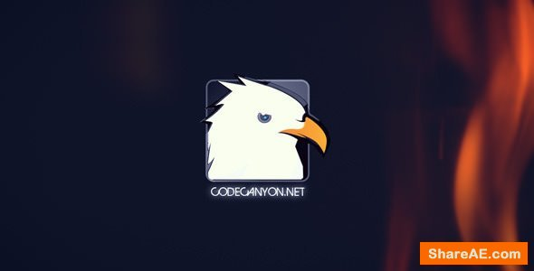 Videohive Fire Glitch Logo Intro