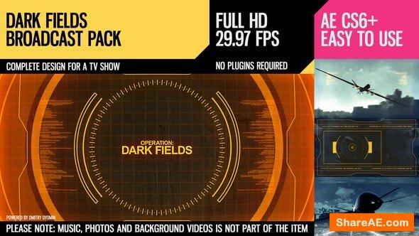 Videohive Dark Fields (Broadcast Pack)