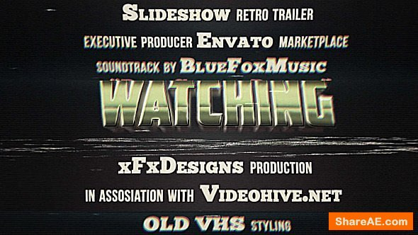 Videohive 80s Retro Titles VHS Effect » free after effects