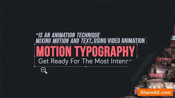Videohive Motion Typography Glitch Titiles