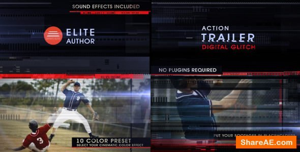 Videohive Action Trailer Digital Glitch