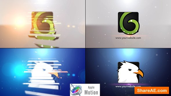 Videohive Minimal Slice Logo V2 - Apple Motion Templates