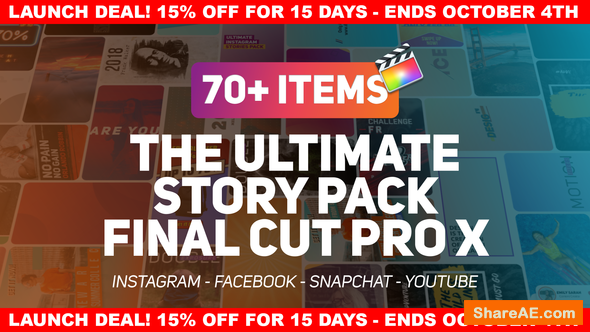 Videohive The Ultimate Story Pack - Apple Motion Templates