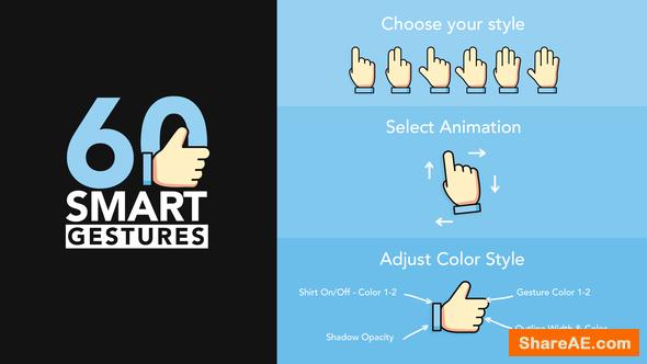 Videohive 60 Smart Gestures