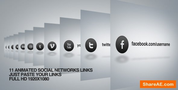 Videohive Social network links
