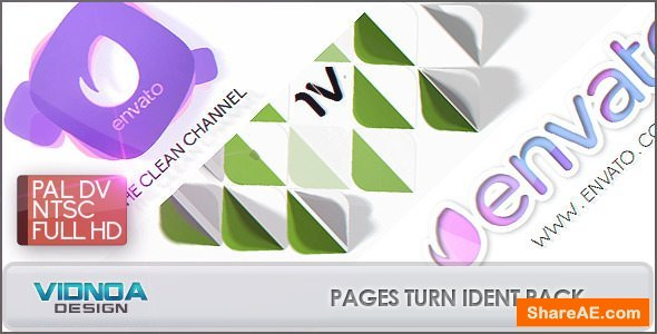 Videohive Pages Turn Ident Pack