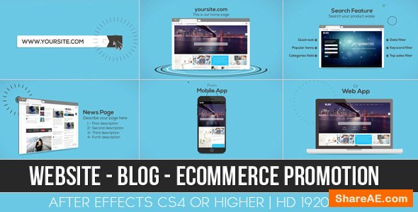 Videohive Website / Blog / E-commerce Promotion
