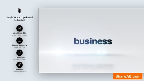 Videohive Simple Words Logo Reveal - 3 in 1