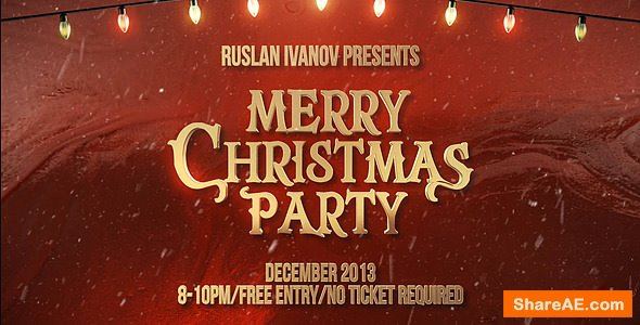 Videohive Merry Christmas Party Teaser