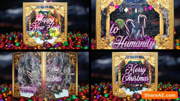 Videohive Christmas and New Year Greetings