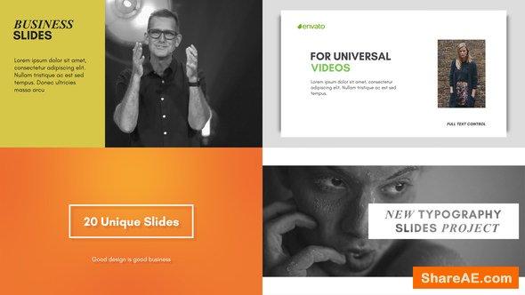 Videohive Typography Slides 21659512