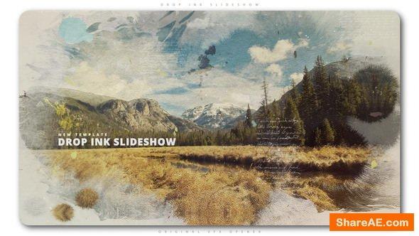 Videohive Drop Ink Slideshow