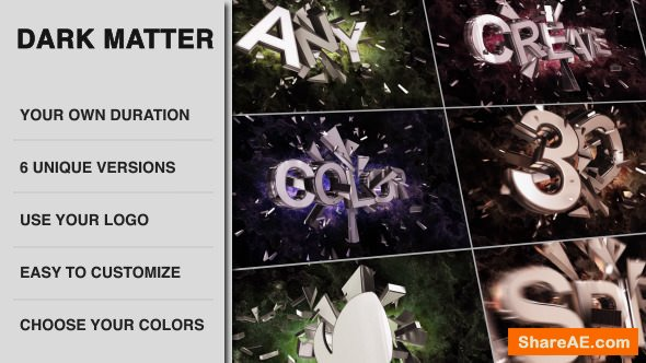 Videohive Dark Matter - Cinematic Colliding Titles
